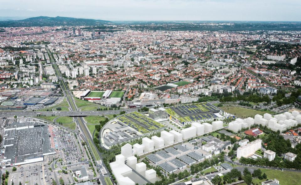 Vue aérienne du quartier Grand Parilly à Lyon © Thierry Fournier / Métropole de Lyon